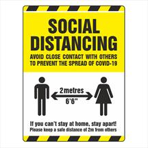 Social Distancing Signs & Floor Stickers