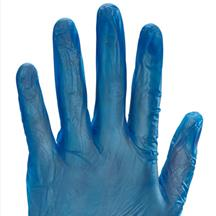 Vinyl Disposable Gloves Powder Free Blue box of 100