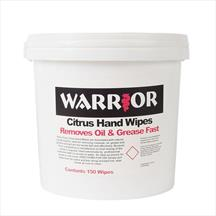 Warrior Citrasan Hand Wipes Bucket of 150 Wipes 0122CW