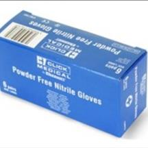 Nitrile Gloves Powder Free Blue 6 pairs in a box