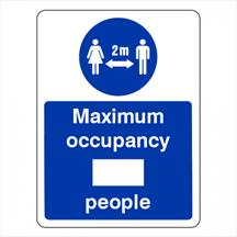 Social Distancing - Maximum Occupancy Sign