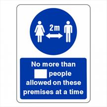 No More Than XX People Allowed On These Premises Sign