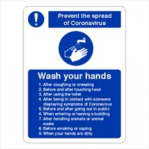 Wash Hands Instructions Sign