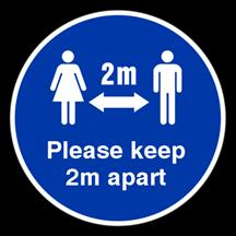 Please Keep 2m Apart Floor Sticker