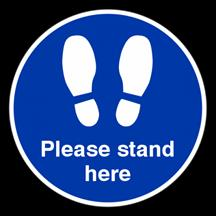 Please Stand Here Floor Sticker
