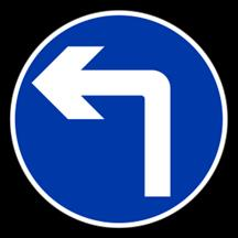 Turn Left Arrow Floor Sticker