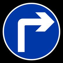 Turn Right Arrow Floor Sticker