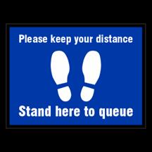 Please Keep Your Distance Floor Sticker
