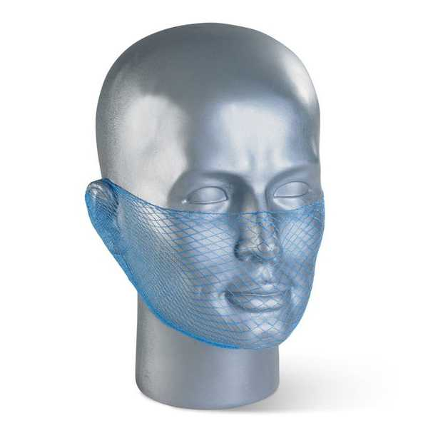 Disposable Beard Snood Mesh Blue pack of 12 DBSBL