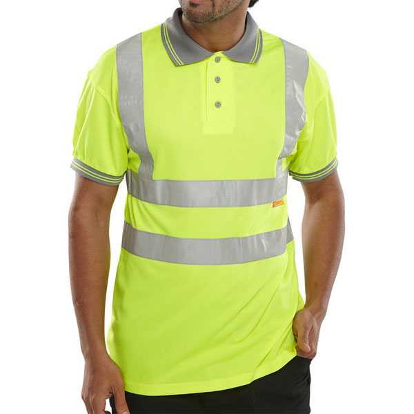Hi Vis Polo Shirt Yellow or Orange BPKSEN