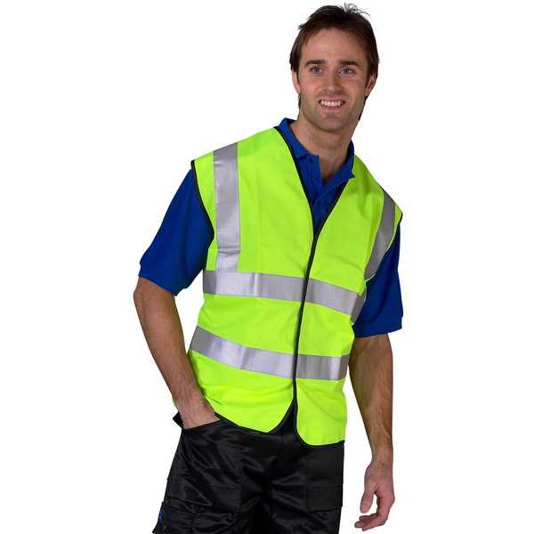 Hi Vis Vest EN ISO 20471 Yellow sizes S-6XL WCENG