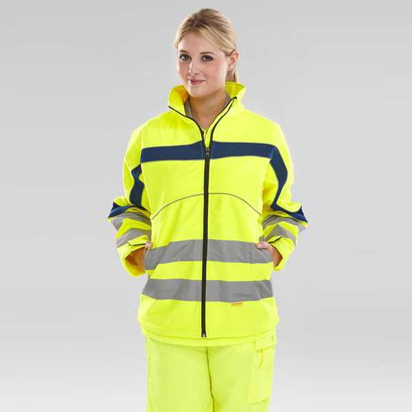 Eton Soft Shell Water-Resistant Hi Vis Jacket Yellow ET40SY