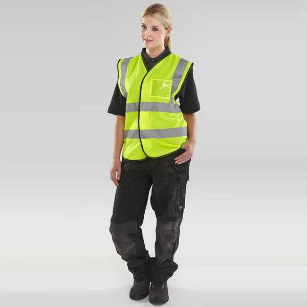 Hi Vis Vest ID Pocket Yellow BD108SY