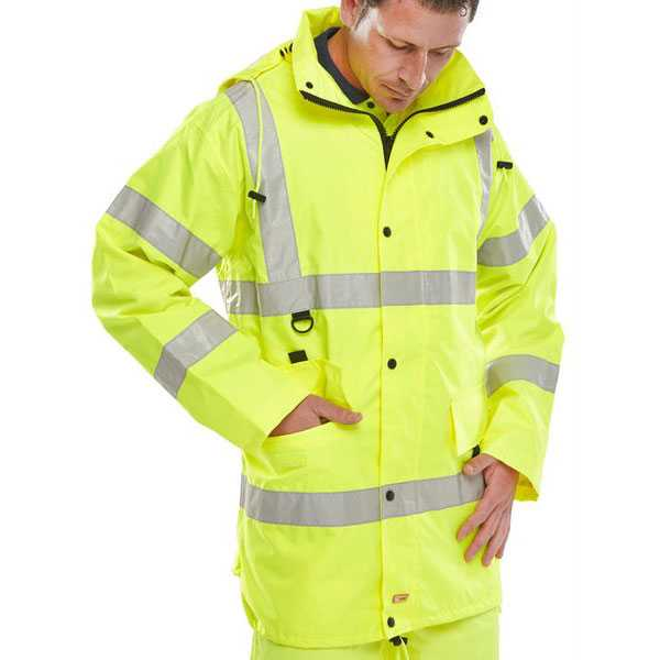 Jubilee Economy Waterproof Hi Vis Jacket Yellow JJSY