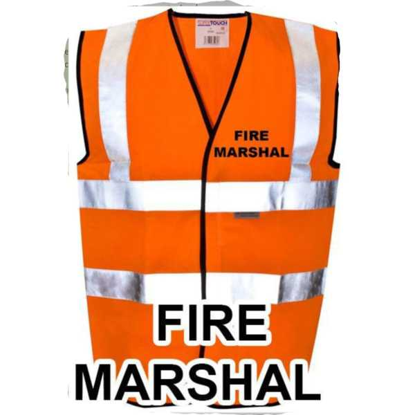 Hi Vis Vest Orange Fire Marshal ST-35281