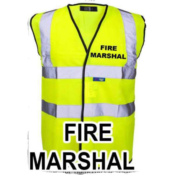 Hi Vis Vest Yellow Fire Marshal ST-35241