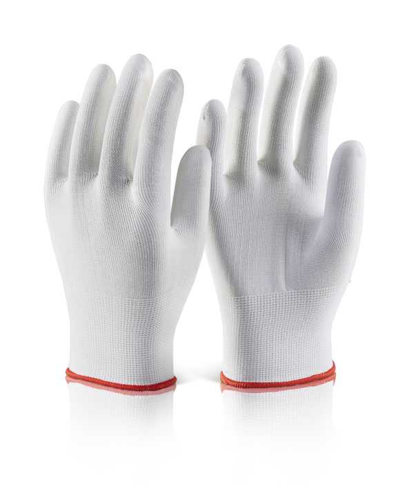 Polyester Knitted Glove White EC11 pack of 10
