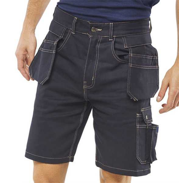 Grantham Multi-Pocket Shorts Navy GMPSN