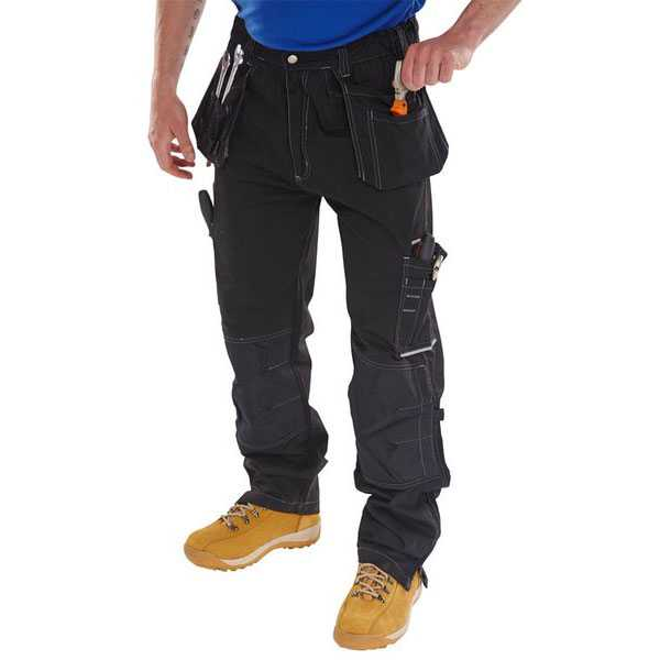 Shawbury Multi Pocket Trousers Black or Navy Regular or Tall Leg SMPT