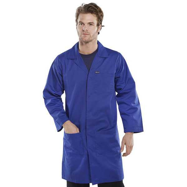 Warehouse Coat Poly Cotton Royal Blue PCWCR