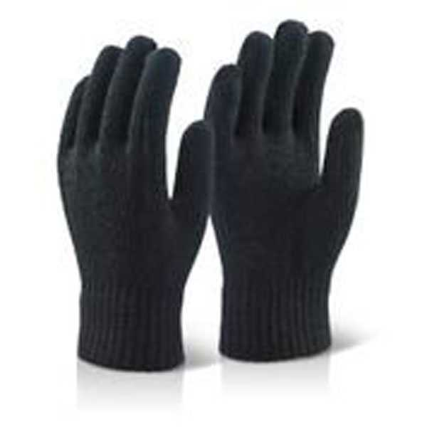 Acrylic Glove Blac - Pack of 10 ACG