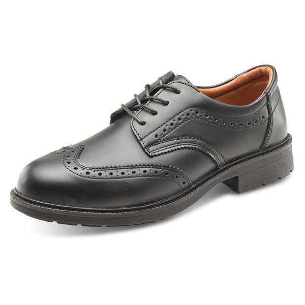 Brogue Safety Shoe Black sizes 05-12 SW2011