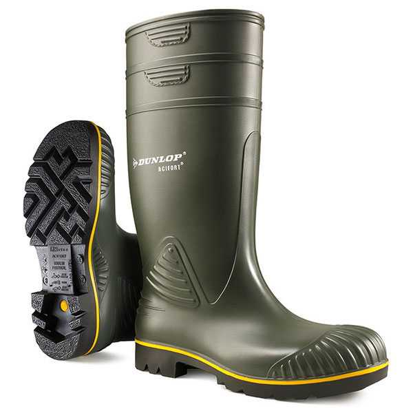 Dunlop Acifort Heavy Duty Green Wellington B440631