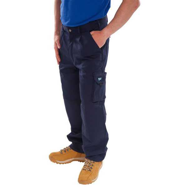 Newark Cargo Trousers Black or Navy Regular or Tall Leg