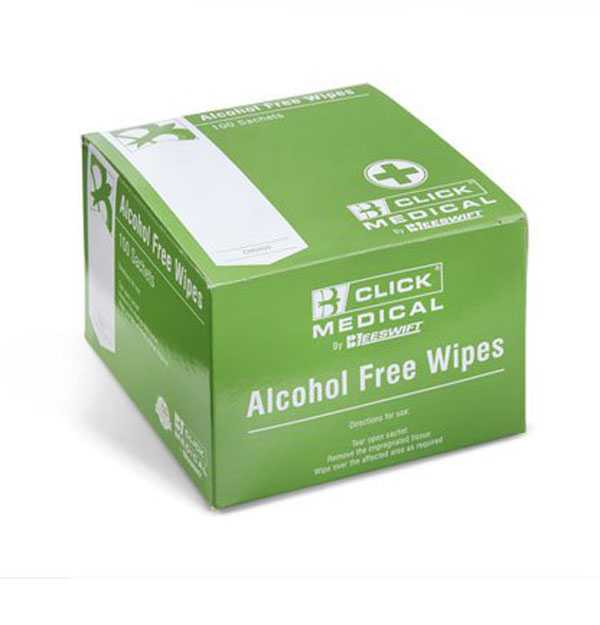 Sterile Alcohol Free Wipes box of 100 CM0800