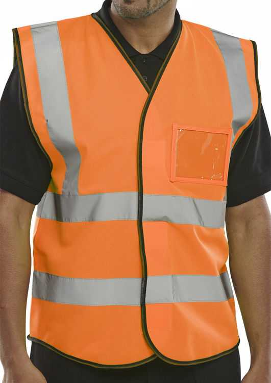 Hi Vis Vest ID Pocket Orange BD108OR