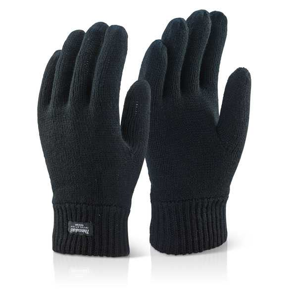 Ladies Thinsulate Glove Black 5563 pack of 6