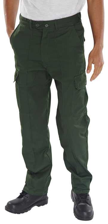 Polycotton Cargo Trousers with Knee Pad Pockets Short, Regular or Tall Leg PCTHW