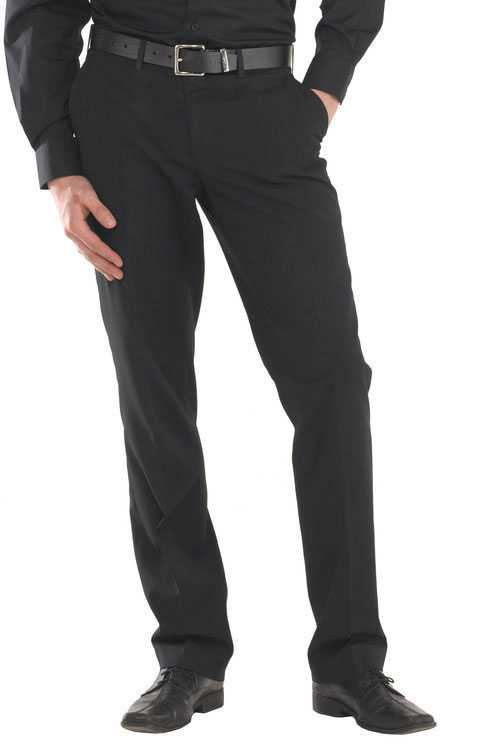 Mens Trousers Black Regular or Tall Leg CCMTBL