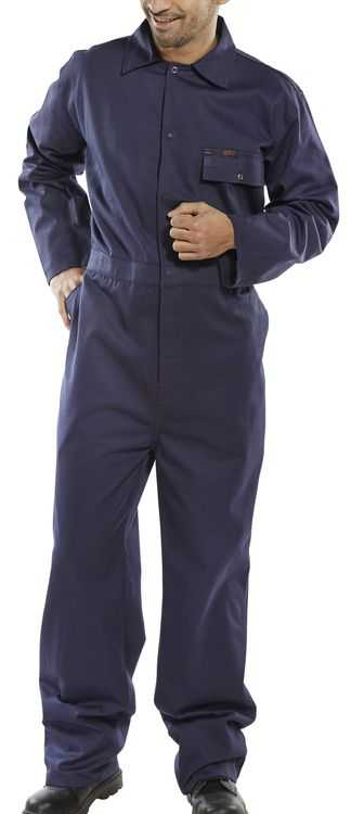 Cotton Drill Boilersuit Navy CDBSN