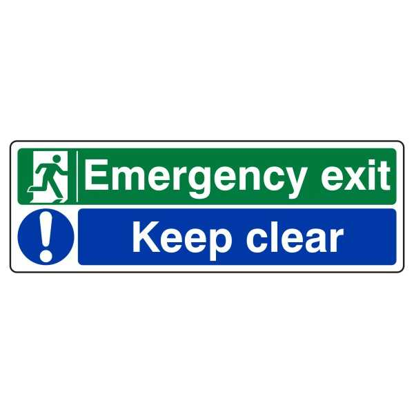 Emergency Exit Keep Clear from £0.98