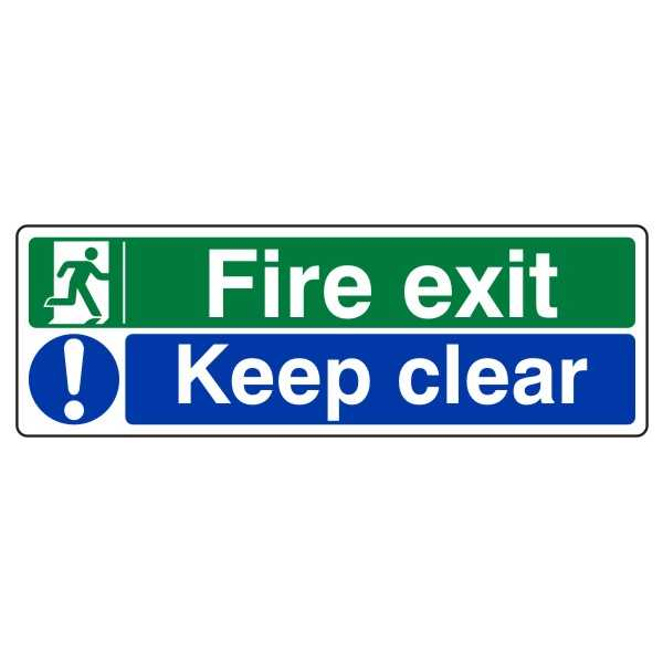 Fire Exit Keep Clear from £0.98