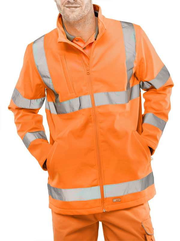 Hi Vis Soft Shell Jacket Orange or Yellow SS20471