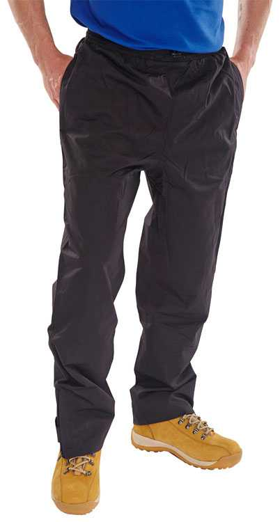 Springfield Soft Weatherproof Work Trousers Black or Navy STBL-N