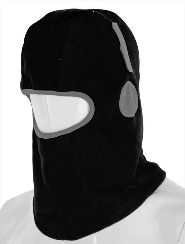 Balaclava Thinsulate Lined Black with Hook and Loop