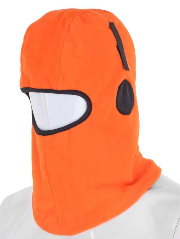 Balaclava Thinsulate Lined Orange with Hook & Loop