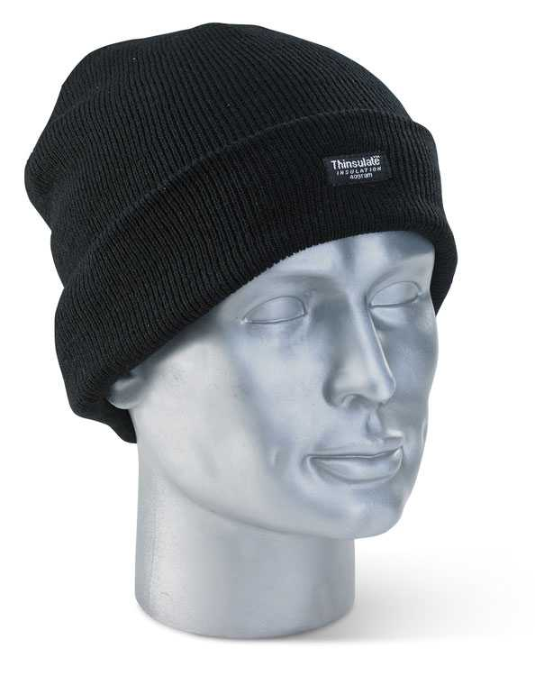 Thinsulate Beenie Hat Black or Navy THH