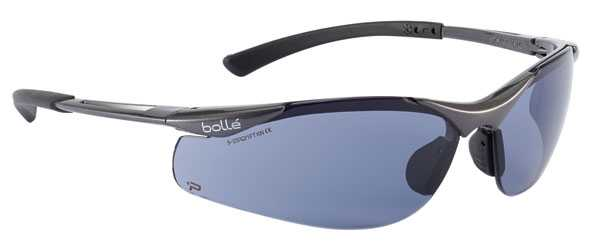 Bolle Contour Platinum Smoke Safety Glasses pack of 10 BOCONTPSF