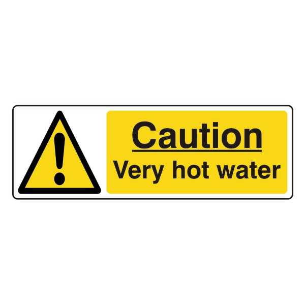 Caution - Very Hot Water