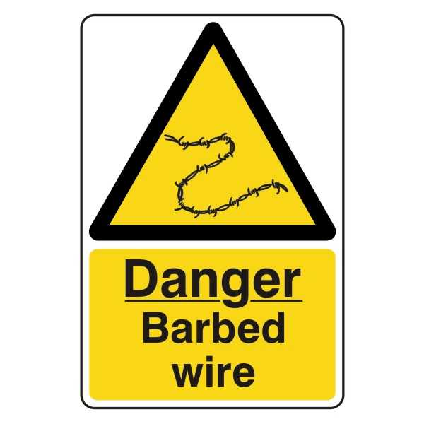 Danger - Barbed Wire