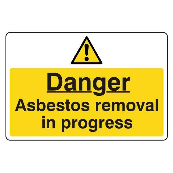 Danger - Asbestos Removal in Progress