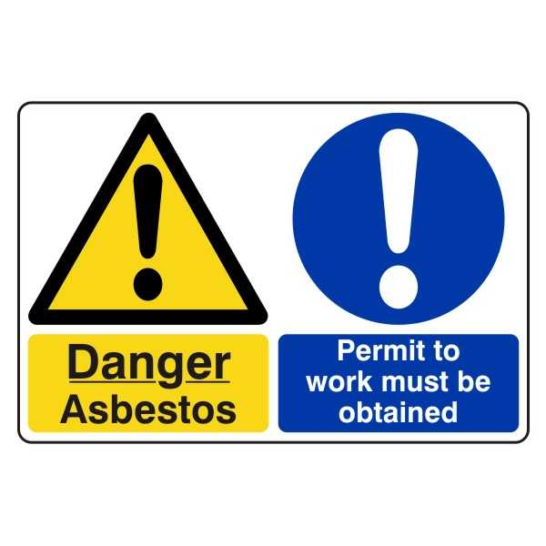 Danger - Asbestos - Permit to Work Must be Obtained