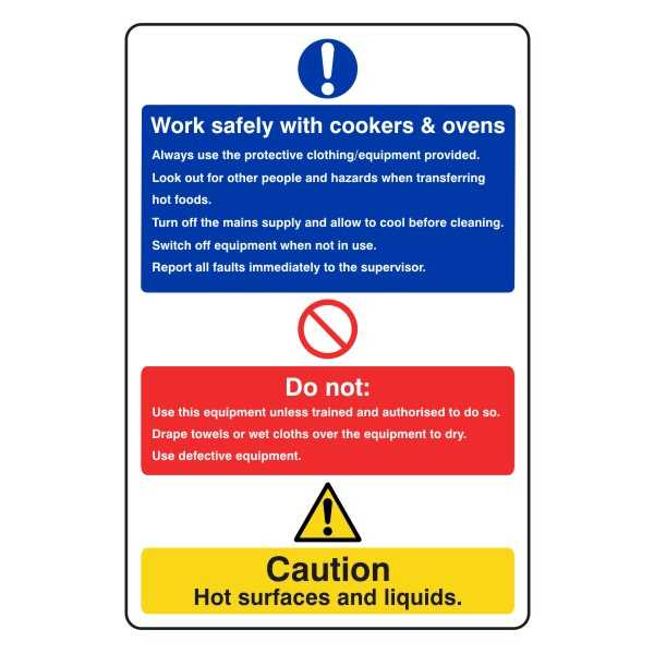 Work Safely With Cookers & Ovens