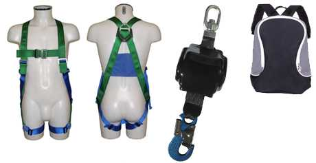 Safety Harness Kit with 2.4m Retractable Lanyard AB10/2.4T