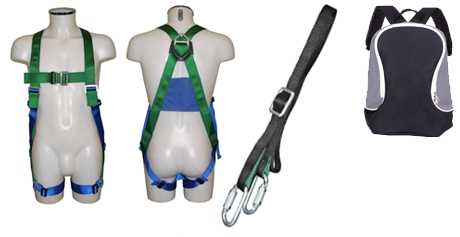 Safety Harness Kit with 1.5m Adjustable Restraint Lanyard AB10ADJ