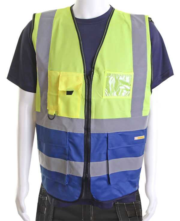 Hi Vis Vest Two Tone Yellow Blue Sizes XS-6XL HVWCTTSYR